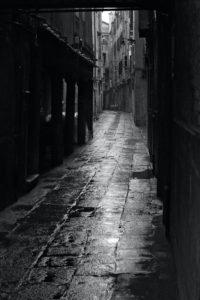 Dark alley in Venice